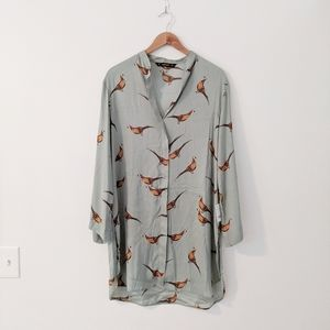 NWT Zara Pheasant Tunic Top Dress